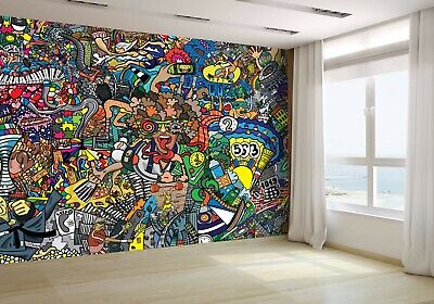 £62.60 • Buy Sports Collage On Wall Graffiti Wallpaper Mural Photo 64362878 Budget Paper