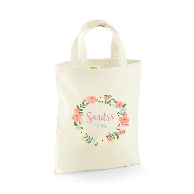 £3.95 • Buy Personalised Wedding Party Bridal, Flower Girl, Bridesmaid Favour Gift Bags, Bag
