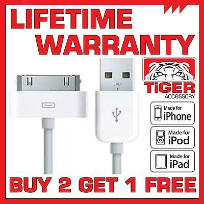 Genuine Charging Cable Charger Lead For Apple IPhone 4,4S,3GS,iPod,iPad2&1 • 1.95£