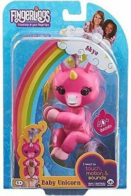 AU31.73 • Buy WowWee Fingerlings Baby Unicorn Skye (Hot Pink With Rainbow Mane And Tail) RARE