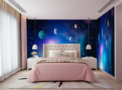 $15.74 • Buy 3D Wall Murals Wallpaper Photo Nebula And Galaxies Painting For Kid's Room Decor