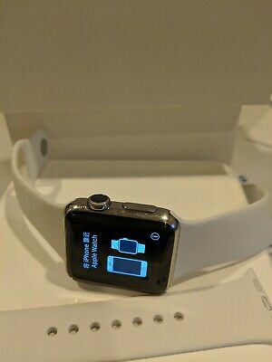 $ CDN238.62 • Buy Apple Watch Series 1, 38mm Stainless Steel With Brand New Apple White Sport Band