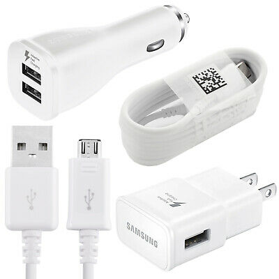 $ CDN10.30 • Buy Samsung Galaxy S7 S8 S9 S10 Note 8 Fast Charging Dual USB Car&Wall Charger+Cable
