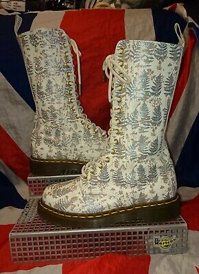 Rare Acacia*White Glitter Tree Winter White Dr Doc Martens*Wedding Skingirl Goth • 144.99£