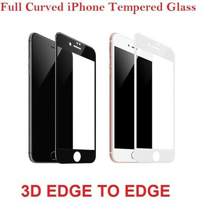 3D Full Cover Tempered Glass Screen Protector Film For IPhone 6 7 8 Plus X XS 11 • 1.89£