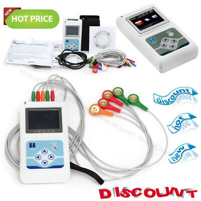 £230 • Buy 24 Hours Dynamic ECG Holter TLC9803 3 Channel EKG Recorder 12 Leads Software USB