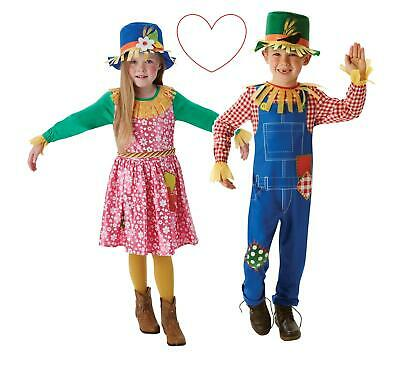 Childs Oz Scarecrow Wizard Of Costume Book Week Day Kids Fancy Dress Costumes • 16.99£