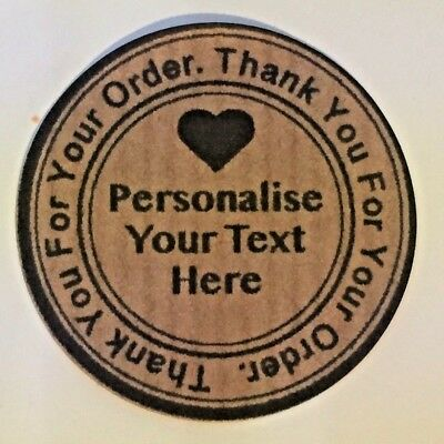 Personalised Thank You For Your Order, Soap Stickers, Business Labels Seals • 2.50£