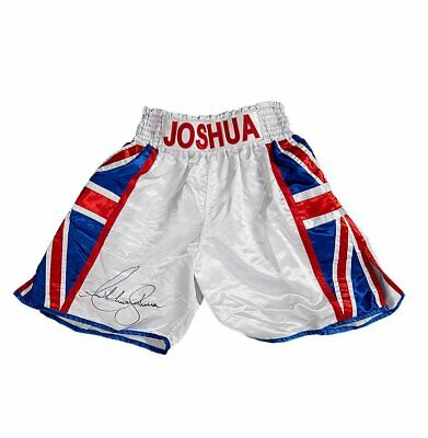 Anthony Joshua Signed Boxing Shorts - Union Jack Autograph • 275.99£