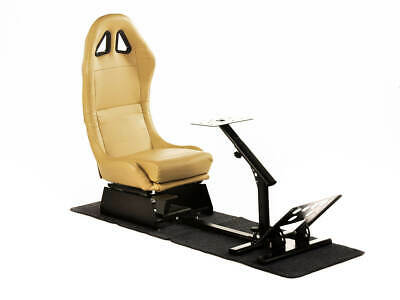 Gaming Racing Simulator Frame Chair Bucket Seat Frame Carbon/Gold XBox PS4 PS3 • 255£