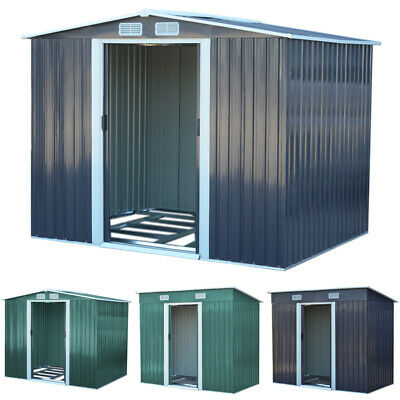 Metal Garden Shed Outdoor Storage House 4x8 6x8 8x8 8x10  Tool Sheds With Base • 225.95£