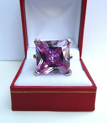 $375 • Buy NEW Charles Winston Purple Cubic Zirconia CZ Sterling Silver Ring 20.93 Grams!