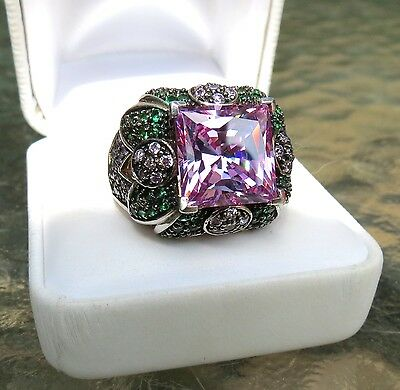 $325 • Buy NEW Charles Winston Purple Cubic Zirconia CZ Sterling Silver Ring 20.62 Grams!