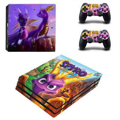 AU19.95 • Buy Playstation 4 PS4 Pro Console Skin Decal Sticker Spyro +2 Controllers