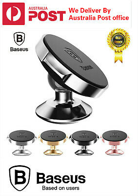 AU14.85 • Buy BASEUS 360 Degree Rotating Cell Phone Holder Car Magnetic Mount Stand Universal