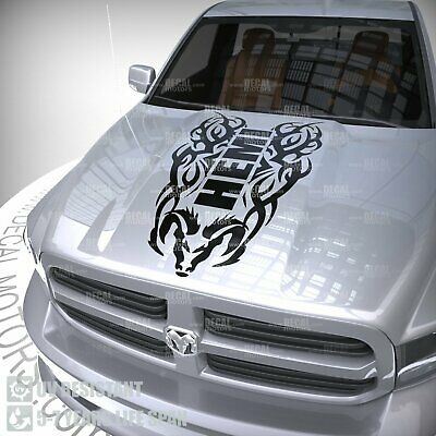$69.99 • Buy Hood Decal Tribal Vinyl Stripe For Dodge Ram 1500 Hemi Racing Sticker 4x4