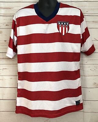 USA World League Soccer Umbro Soccer Jersey Adult Size XL Red Striped •  17.99  58802731a