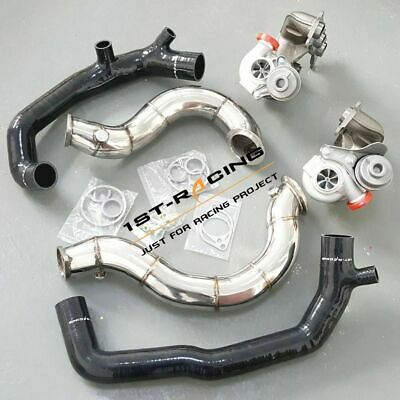 $ CDN1750.27 • Buy TD04L 16T Twin Turbos+Downpipe+Silicone Inlet Pipe For BMW N54 135i 335i E90 E91