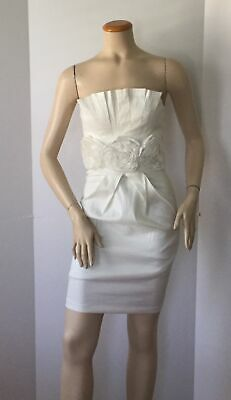 $ CDN35.68 • Buy NEW Ariella White Roses Strapless Special Occassion Dress (Size S) - MSRP $129!