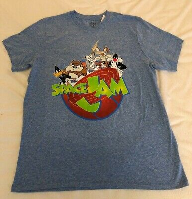 0c5a68b48 Warner Brothers Team Looney Tunes Space Jam Vintage Style T-Shirt Size:  Large •