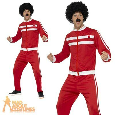 Adults Mens 1980s Scouser Tracksuit Costume Shell Suit Retro Fancy Dress Outfit  • 13.99£