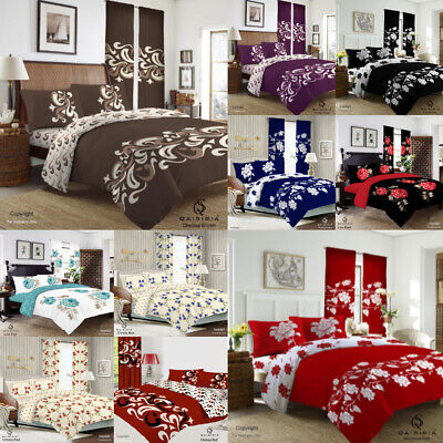 £18.49 • Buy 4Pcs Complete Bedding Set Duvet Cover With Fitted Bed Sheet Single Double King