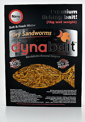 AU60 • Buy Dynabait Sand Worms 1Kg  ( 1kg Wet Weight = 30 Small Dynabait Satchels)