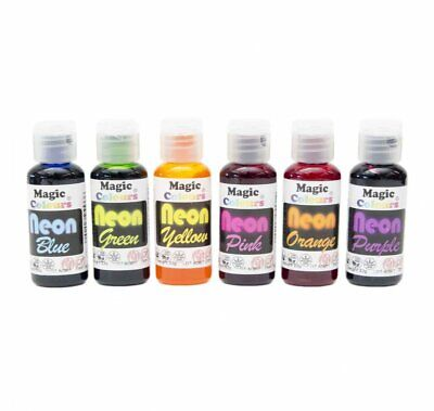 Magic Colours Neon Gel Paste Food Colours Cake Decorating Food Colouring Dyes  • 5.95£