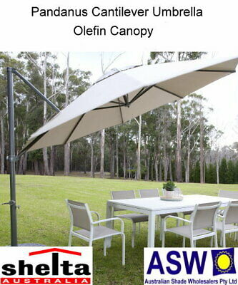 AU589 • Buy Octagonal 330cm Shelta PANDANUS Cantilever Umbrella - Various Colours