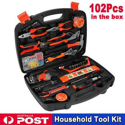 AU58.99 • Buy 102 PCS Household Tools Garden Home Tool Set Kit Box Repair Hard Case DIY Handy