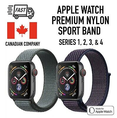 $ CDN11.99 • Buy Sports Loop Band For Apple Watch Nylon Woven Strap For IWatch Series 4 3 2 1