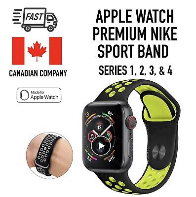$ CDN11.99 • Buy Silicone Strap For Apple Watch Band 42mm/38mm IWatch Nike+ All Series 1 2 3 4