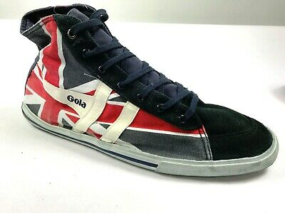 NEW Gola Quota High Union Jack Men`s Canvas Trainer Navy/White/Red • 27.83£