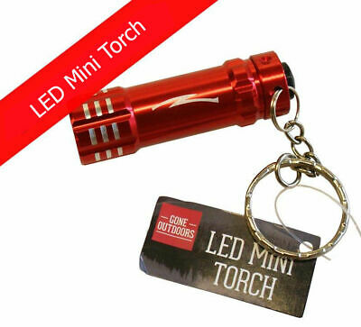 LED Mini Torch Powerful LED Micro Pocket Flashlight Keyring Split Ring Clip • 2.90£