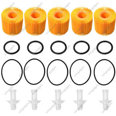 $15.45 • Buy 5PCS Oil Filters 04152-YZZA1 For Toyota Avalon Camry Sienna Lexus