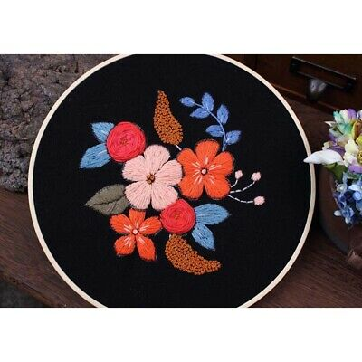 Creative Flower Painting Embroidery Starter Kit Wall Decoration Sewing Arts • 4.61£