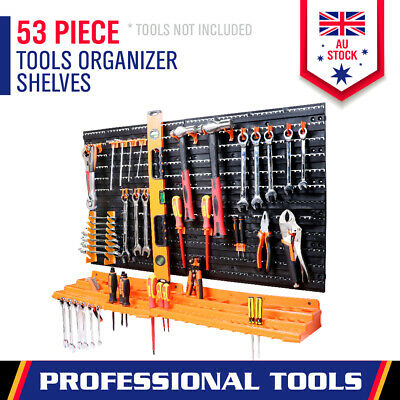 AU34.98 • Buy 52-Piece Tool Storage Rack Wall Mounted Wrench Spanner Holder Screwdriver Pliers