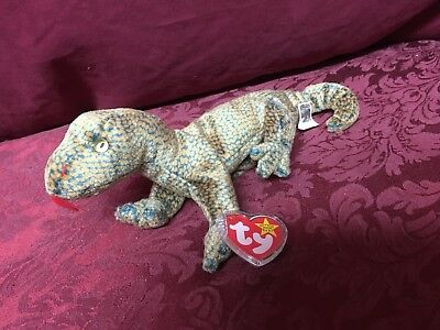 3b2b8d658ad 1999 Vintage TY Beanie Babies Baby Plush Stuffed Animal Doll Scaly Lizard •  0.99
