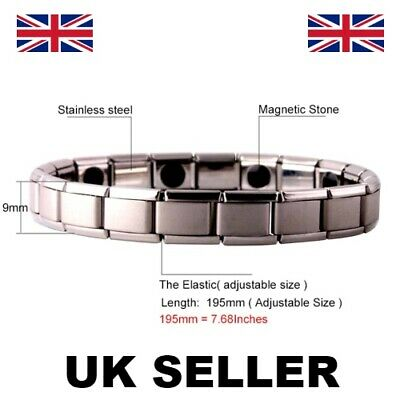 Magnetic Bracelet Health Bio Therapy Arthritis  Pain Relief Improves Circulation • 3.38£