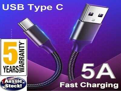 AU6.35 • Buy USB-C To USB-A Cable 1m/2m With Fast Charge Fast Data For Google Samsung Huawei
