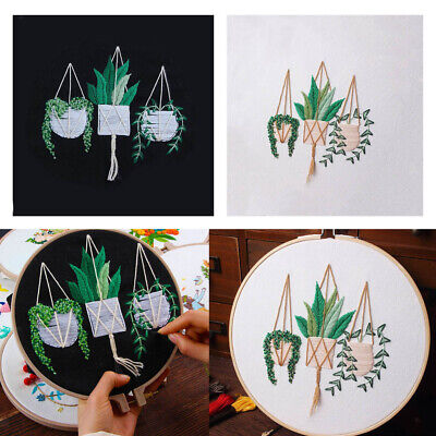 Embroidery Starter Kit With Pattern DIY Needlework For Wall Decor 30x30cm • 4.26£