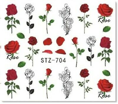 £1.85 • Buy Nail Art Stickers Transfers Decals Love Roses (STZ704)