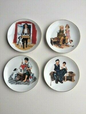 $ CDN32.44 • Buy Norman Rockwell Plates - Lot Of 4