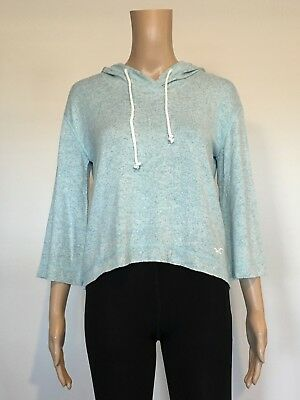 AU16.95 • Buy Abercrombie & Fitch HOLLISTER HOODIE T-SHIRT Womens 3/4 Sleeve Blue Size XS NWT