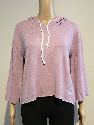 AU17.95 • Buy Abercrombie & Fitch HOLLISTER HOODIE T-SHIRT Womens Purple Soft Cozy TOP S NWT