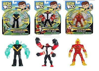 Ben 10 Power Up Diamondhead Deluxe Power Up Four Arms Heatblast Ages 4+ Toy Play • 21.07£