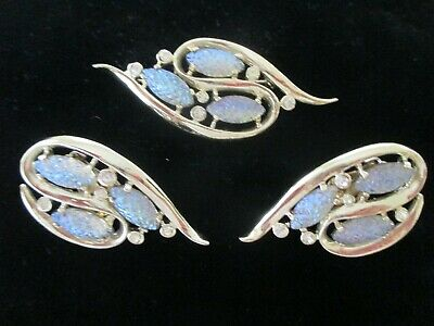 $20 • Buy Vintage Costume Jewelry  / EMMONS DESIGNERS BROOCH AND CLIP ON EARRINGS