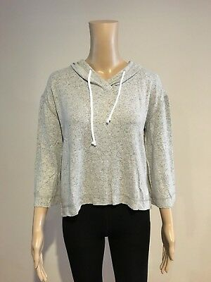 AU16.95 • Buy Abercrombie & Fitch HOLLISTER HOODIE T-SHIRT Womens Grey 3/4 Sleeve Size L NWT