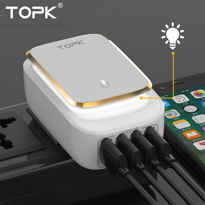 AU21.99 • Buy 4 Ports LED USB Mobile Travel Wall Charger Adapter For Apple IPhone IPad Samsung