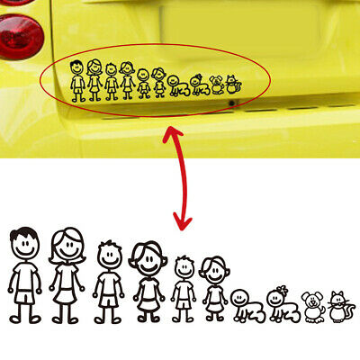 Family-Member Car Sticker Car Decal Decoration Vinyl Art Decal For Car Removable • 1.46£